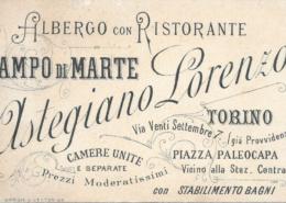 Vintage Visitenkarte eines Turiner Hotels